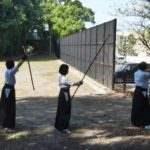 霊丘公園 弓道の練習