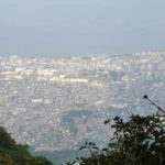 眉山(七面山)頂上から島原市街地