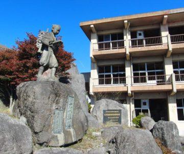 旧大野木場小学校 二宮金次郎像