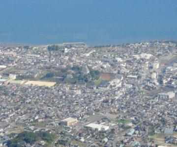 眉山 七面山から島原城