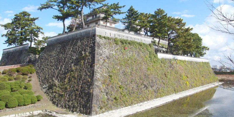 島原城 自衛隊城壁清掃