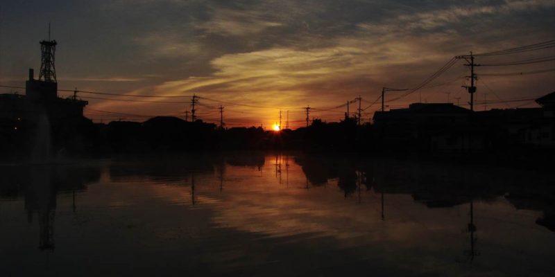 白土湖 朝焼け