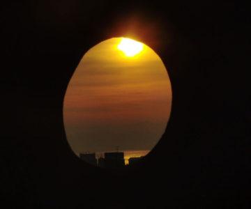 島原城 狭間から見た朝焼け