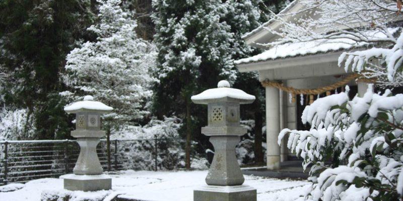焼山神社 積雪