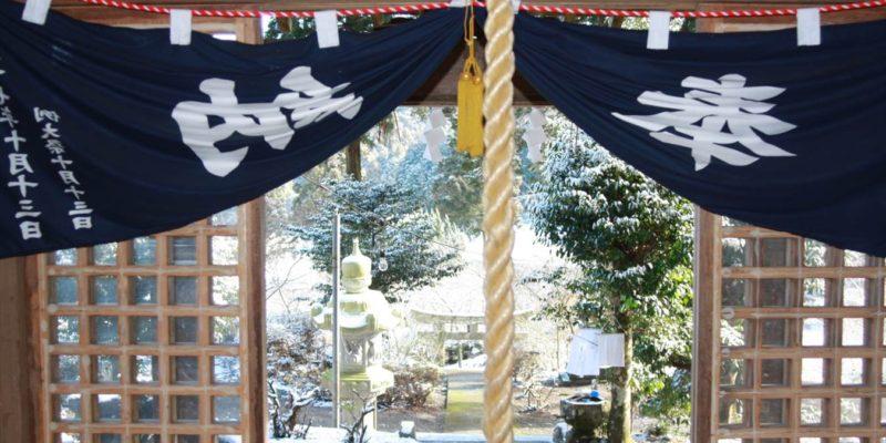 烏兎神社 拝殿から外の様子