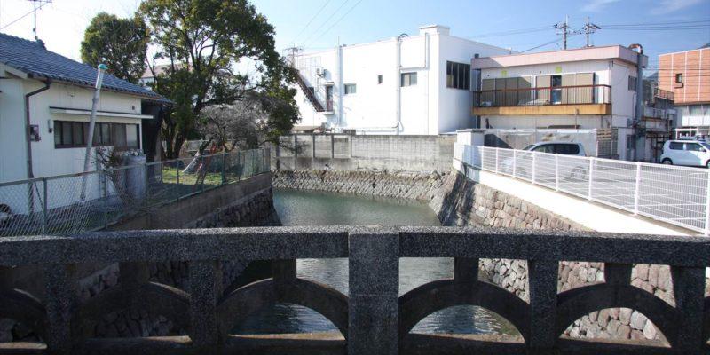 島原市船津地区 埋立地水路