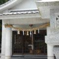 焼山神社 灯篭越しの拝殿