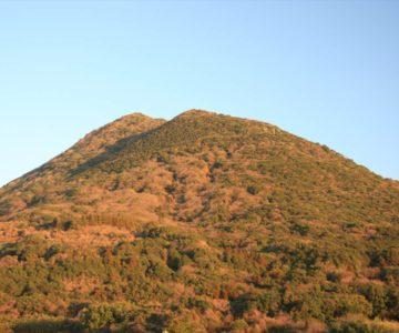朝焼けの眉山