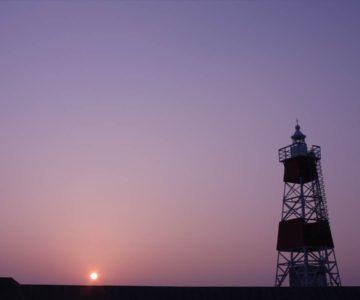 島原海浜公園 朝焼け 日の出 灯台