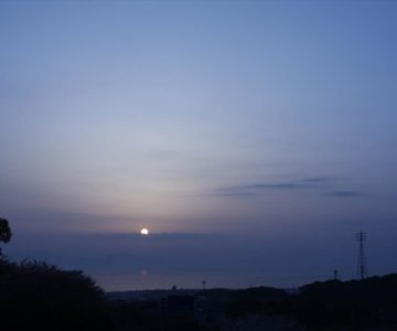 火張山花公園 朝焼け