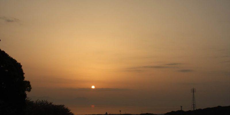 しまばら火張山花公園 朝焼け