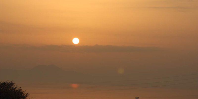 張山花公園 朝焼け