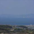 有明海と対岸の熊本県荒尾市