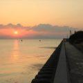 島原海浜公園 朝焼け