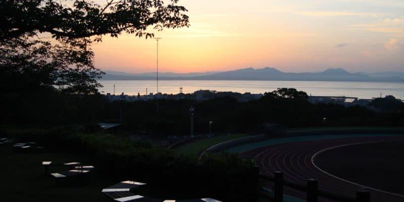 島原陸上競技場 朝焼け