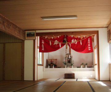 丸尾稲荷神社 社殿内