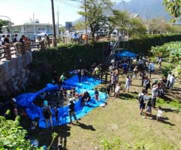 島原城秋のレンコン掘り大会