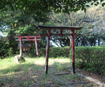 霊丘公園 赤い鳥居