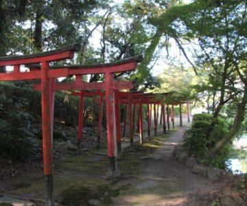 霊丘公園 満島稲荷神社 千本鳥居
