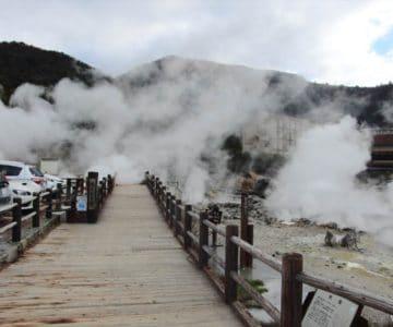 雲仙 湯けむり橋