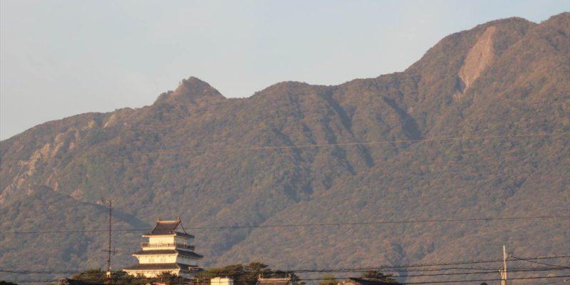 島原城と眉山