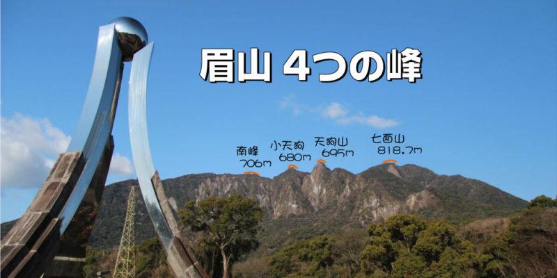 眉山(七面山・天狗山・小天狗・南峰)
