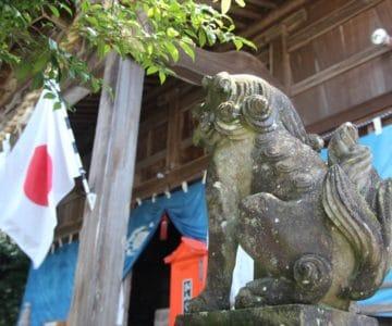 温泉熊野神社 狛犬