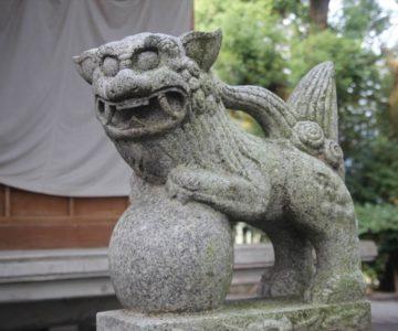 湯江温泉神社 狛犬