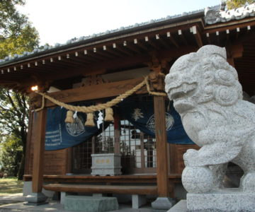 水原神社 狛犬