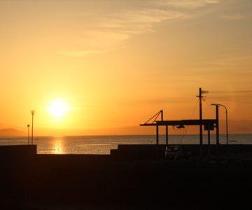 島原市宮の町 日の出 朝焼け