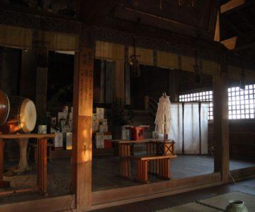 猛島神社 幣殿