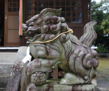 大野温泉神社 狛犬