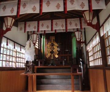 大野温泉神社 拝殿