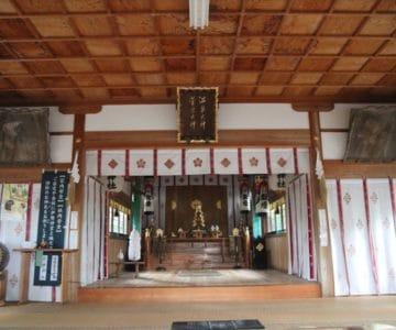 湯江温泉神社 拝殿内