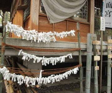 湯江温泉神社 おみくじ結び所