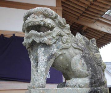 三会温泉神社 狛犬