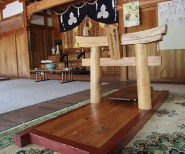 淡島神社 拝殿 鳥居