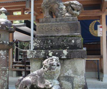 諫早神社 狛犬