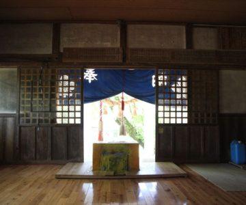 諏訪神社 拝殿内