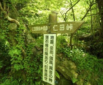 普賢岳 登山道 あざみ谷