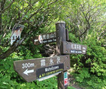 普賢岳 登山道