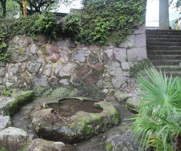 天満神社 清水川の滝壺