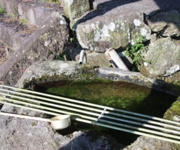 内野水源神社 手水
