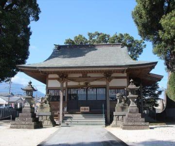 三会温泉神社 拝殿