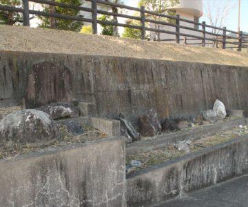 旧大野木場小学校被災校舎 岩石園