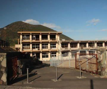 旧大野木場小学校被災校舎 校門