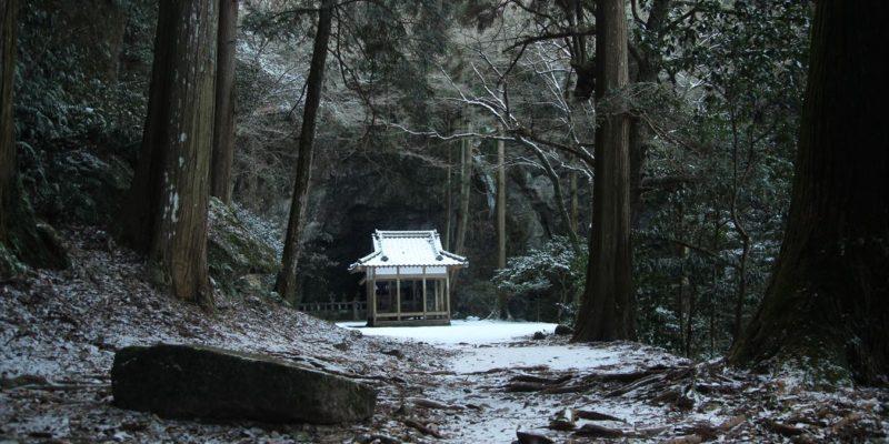 雪の岩戸神社 神楽殿