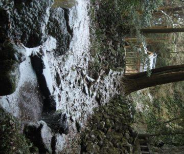 岩戸神社 神楽殿 滝壺