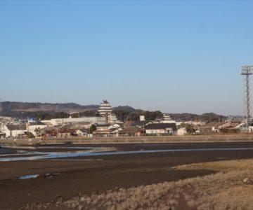 長浜海岸から島原城