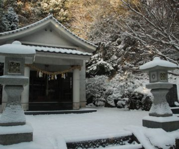 焼山神社 雪化粧